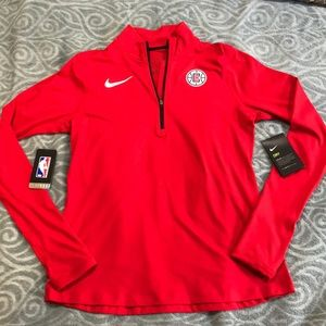 NBA Clippers Dri-fit Half Zip Jacket